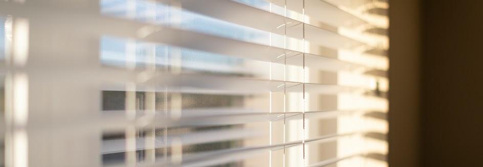 Venetian blinds in the sunlight