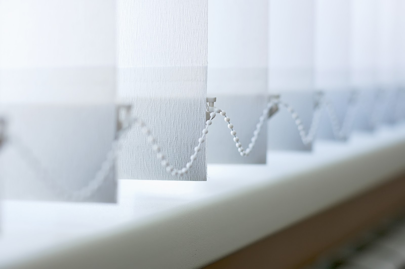 How to clean vertical blinds: Closeup of blinds