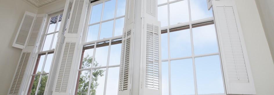 Shutter blinds in high windows