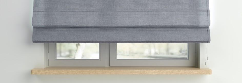 Closeup of thermal roman blinds