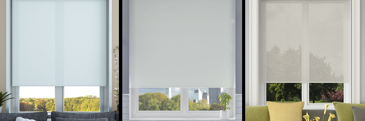 What is the difference between dimout, blackout and voile blinds?