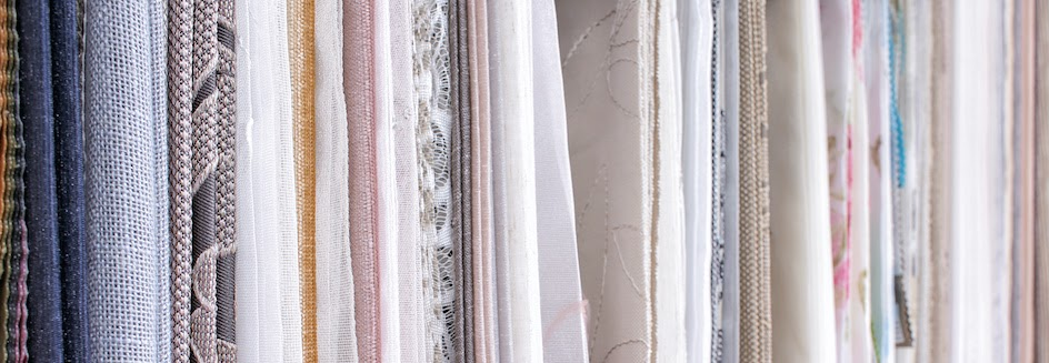 Variety of fabrics for roman blinds