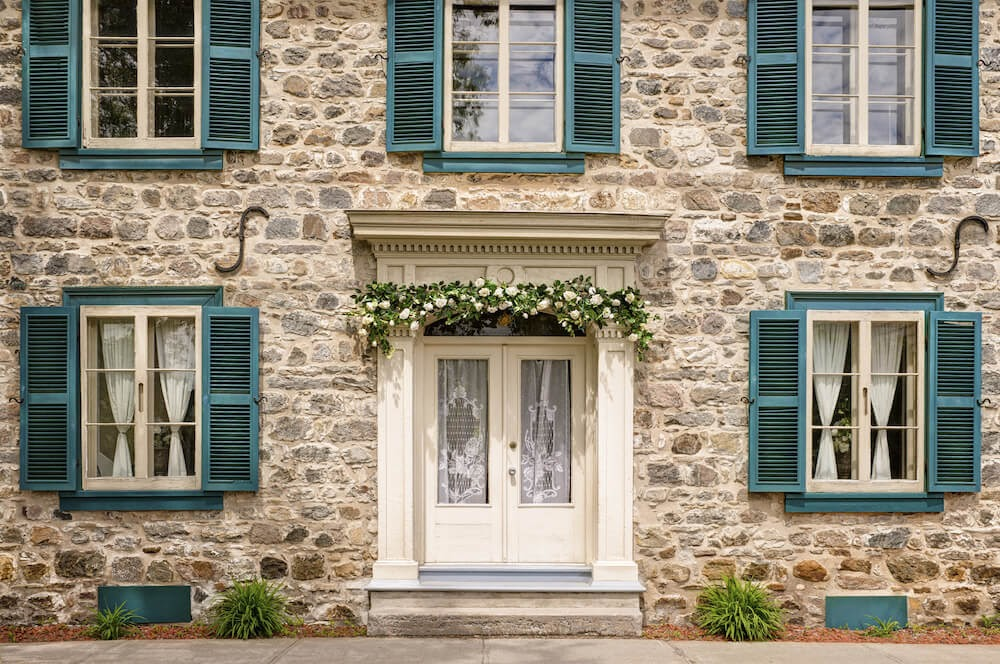 French door blinds