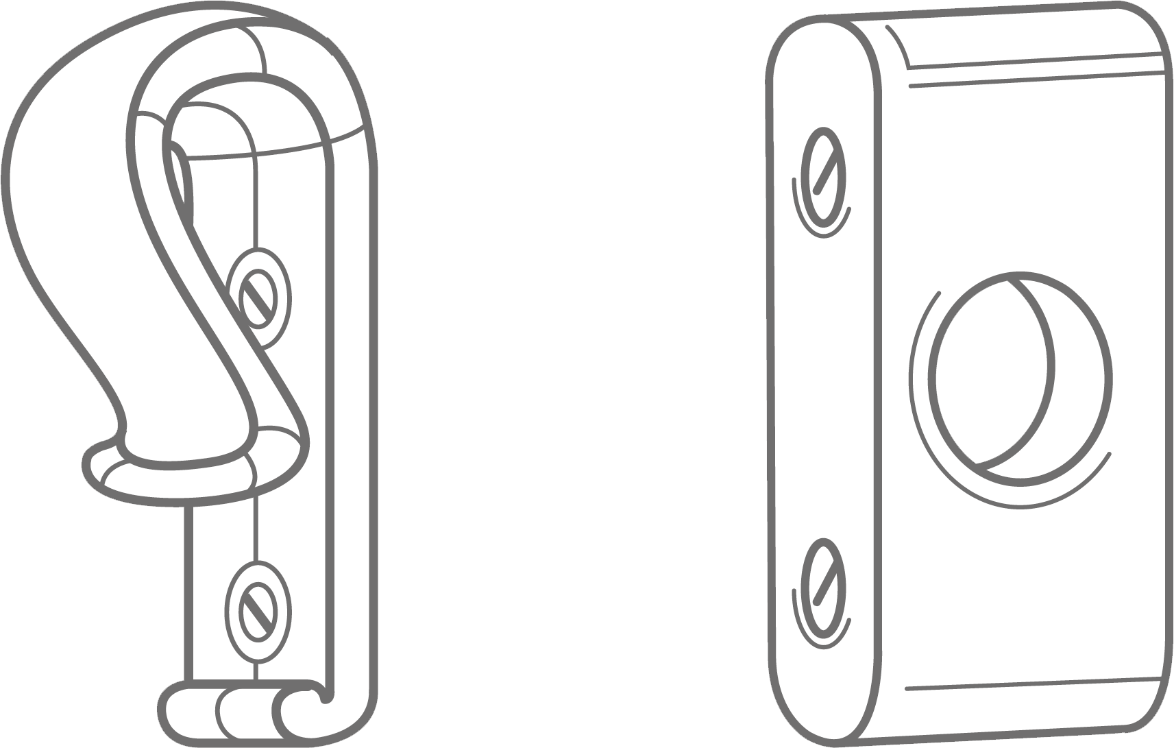 The outline of a child safety clip