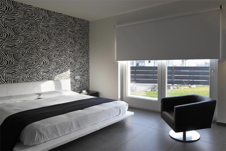 Bedroom Roller in grey blackout