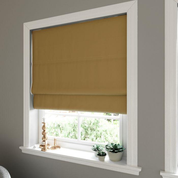 Prestige Silk Golden Copper roman blind in living room window