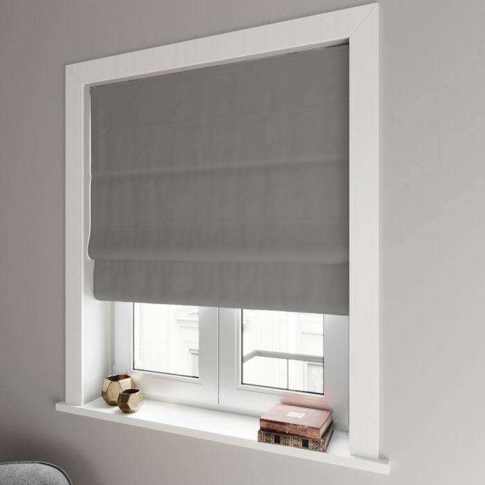 thermal roman blind in living room window