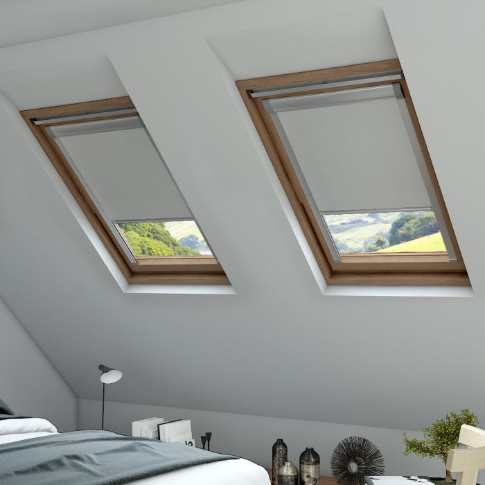 blackout skylight blind in cream