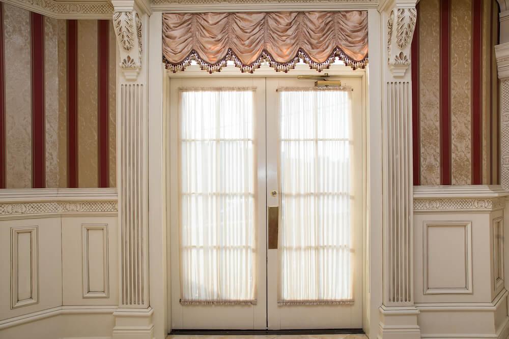tall door window blinds