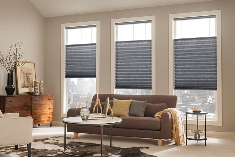 pleated eco fit blinds used to cover large windows