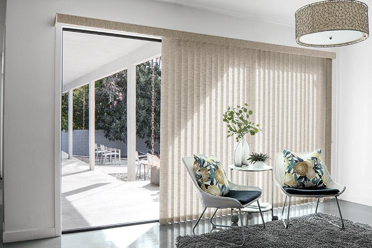 vertical blinds across sliding doors