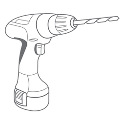 A drawing of a drill