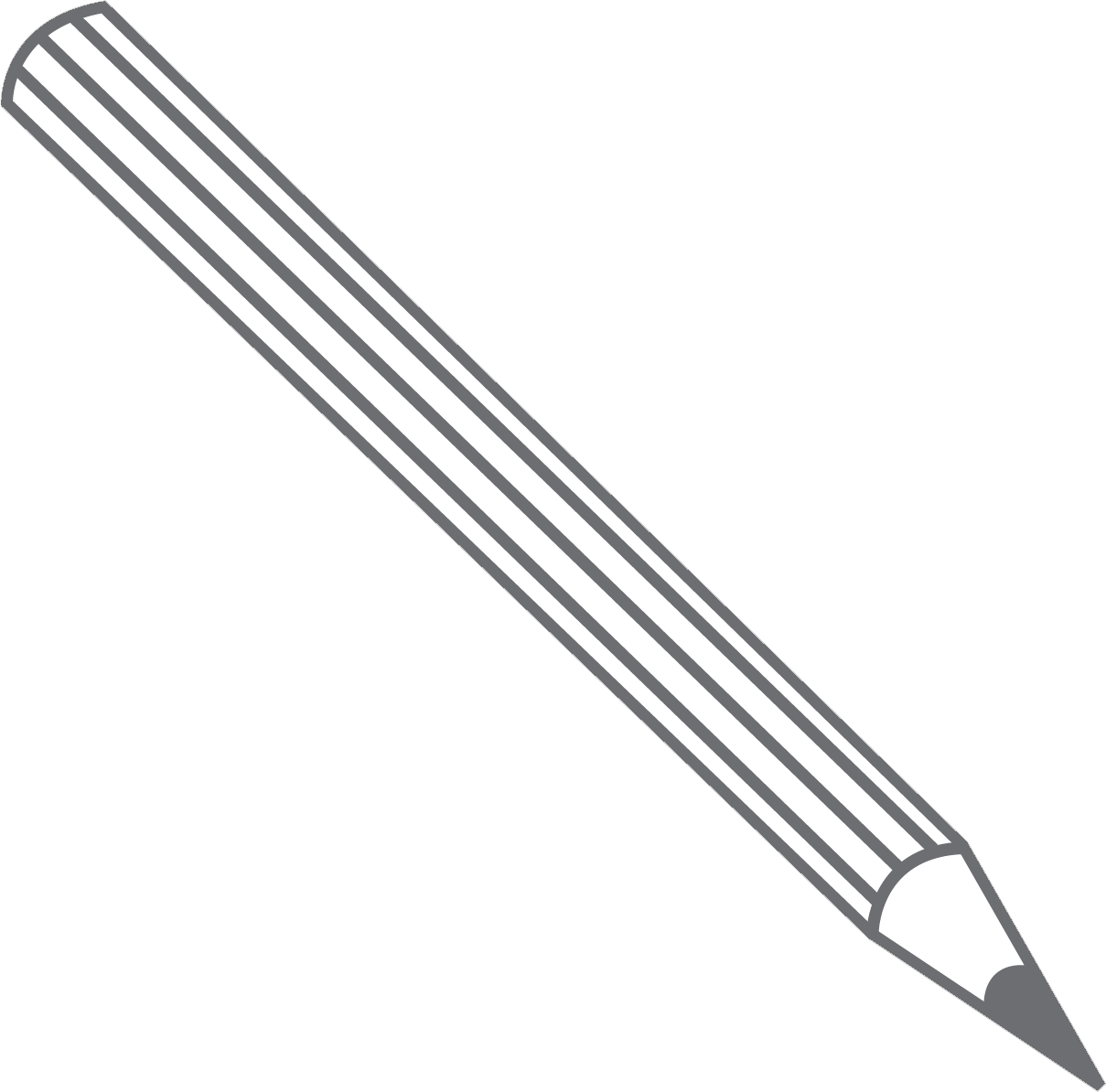 A drawing of a pencil