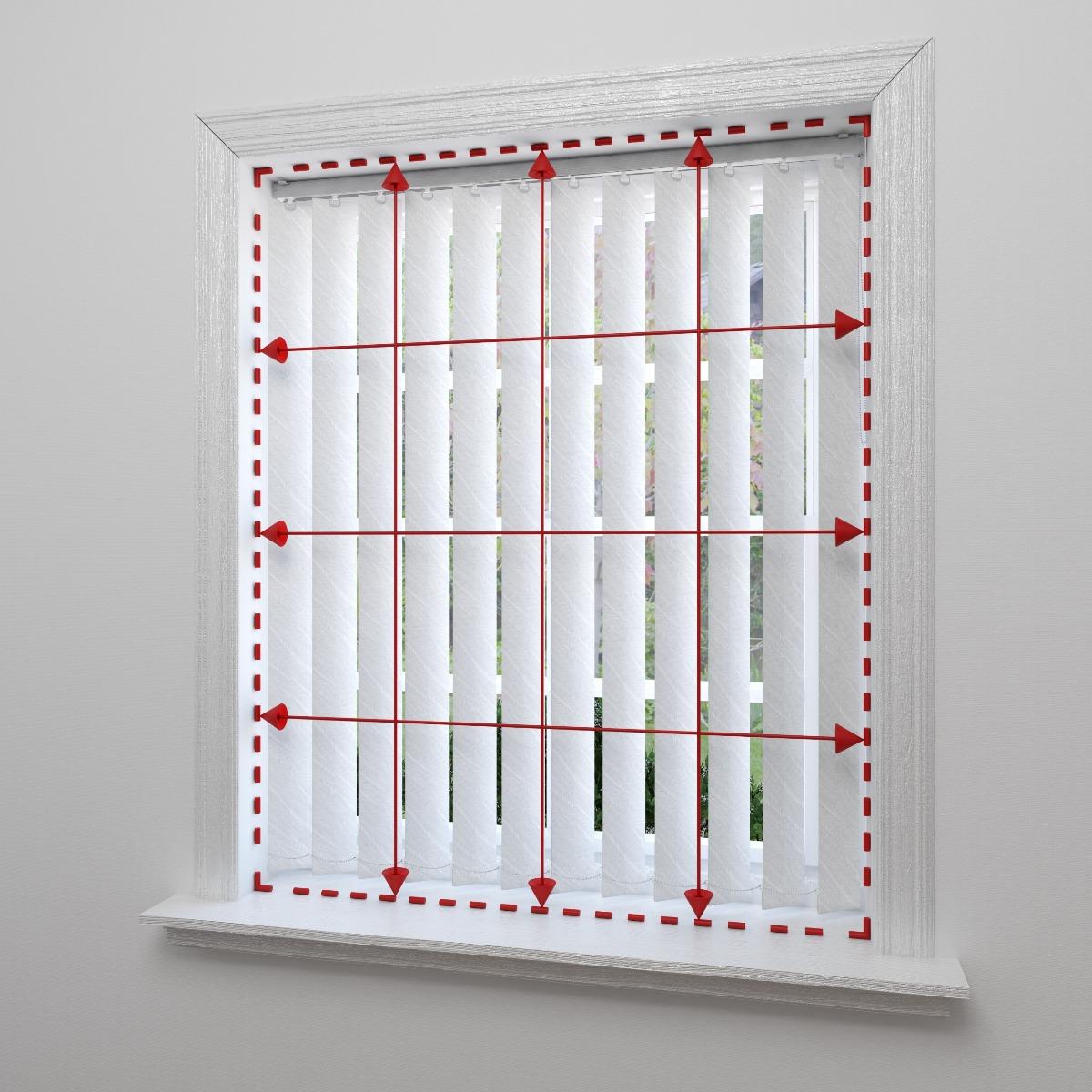 Mesure pour store californien à l'intérieur de l'embrasure de fenêtre