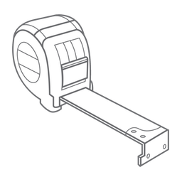 A drawing of a tape measure