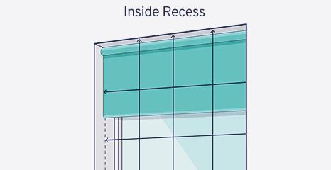 Mesure pour store enrouleur à l'intérieur de l'embrasure de fenêtre