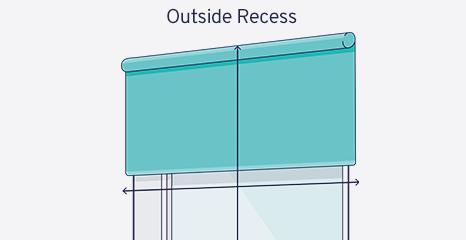 Mesure pour store enrouleur à l'extérieur de l'embrasure de fenêtre