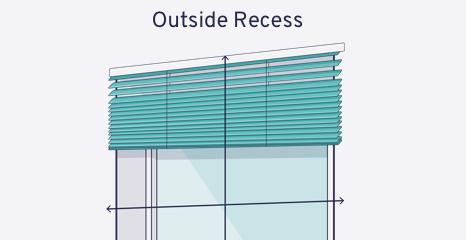 Mesure pour store vénitien bois à l'extérieur de l'embrasure de fenêtre